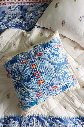 Anthropologie Artisan Quilts by Emari Euro Sham