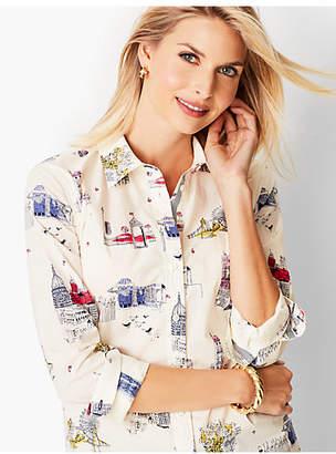 Talbots Classic Cotton Shirt - London City Print