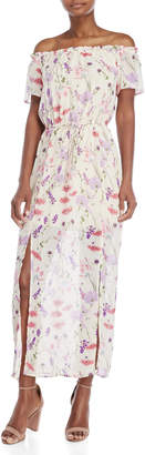 Bebop Off-the-Shoulder Floral Maxi Dress
