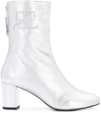 Courreges shearling zip up boots