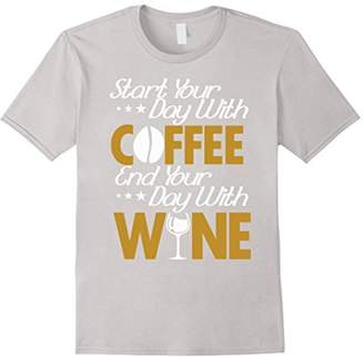 DAY Birger et Mikkelsen Start Your With Coffee End Your With Wine T-Shirt