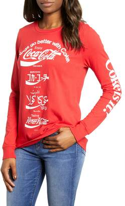 Lucky Brand Coca Cola Language Tee