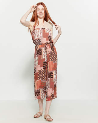 Polly & Esther Patchwork Tube Jumpsuit