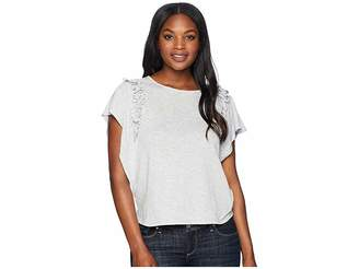 CeCe Short Sleeve Tiered Ruffle Sleeve Top Women's Clothing