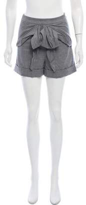 Tibi Wool Mini Shorts