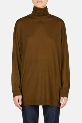 Acne Studios Long Sleeve Turtleneck Pullover - Khaki Green