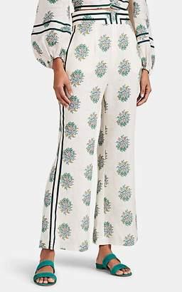Zimmermann Women's Verity Floral Linen Wide-Leg Pants
