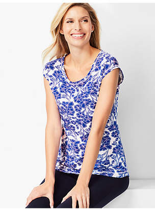 Talbots Allover Floral Tee