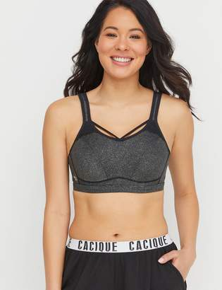 Lane Bryant High-Impact Wicking Sports Bra - Front Strap & Lace