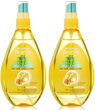 Garnier Fructis Triple Nutrition Miracle Dry Oil for Hair, Face, and Body, 5 Fluid Ounce (Pack of 2) $12.99 thestylecure.com
