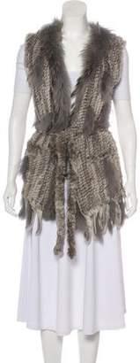 Fur Fur Open Front Vest