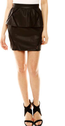 Moon Collection Pleather Skirt