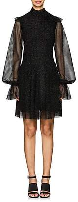 Philosophy di Lorenzo Serafini Women's Metallic Mesh A-Line Dress - Black