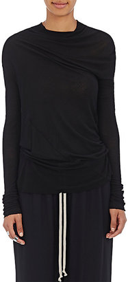 Rick Owens Women's Bonnie Long-Sleeve Top $385 thestylecure.com