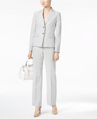 Le Suit Peak-Collar Pinstripe Pantsuit $200 thestylecure.com