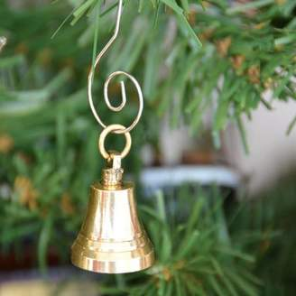 Handcrafted Nautical Decor Solid Brass Bell Christmas Tree Ornament
