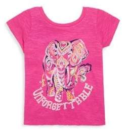 Hatley Toddler's, Little Girl's & Girl's Unforgettable Elephant Cotton Tee