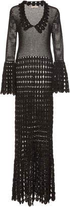 Michael Kors Crocheted Cotton Maxi Dress
