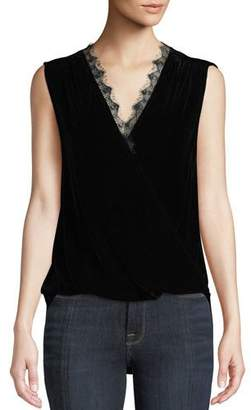 64904ed86b6c58 Womens Sleeveless Black Velvet Top - ShopStyle