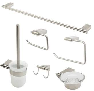 Alfi Brand brand AB9515-BN Brushed Nickel 6 Piece Matching Bathroom Accessory Set