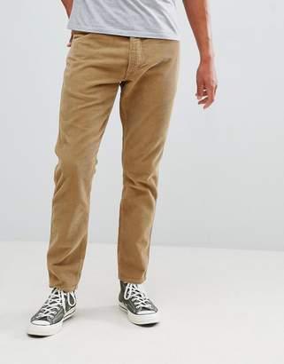 Wrangler slider tapered cord pants clay beige