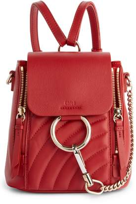 Chloé Mini Faye Quilted Leather Backpack