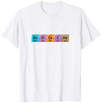 Cool Geocache Tees - Periodic Table of Elements T-Shirt