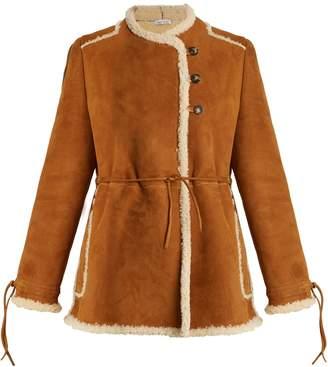 J.W.Anderson Collarless shearling coat