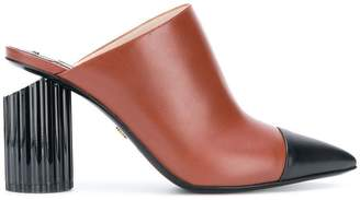 Roberto Cavalli chunky heel mules