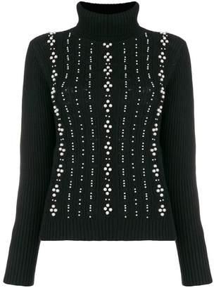 Edward Achour Paris faux-pearl embellished sweater