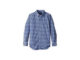 Polo Ralph Lauren Plaid Performance Poplin Shirt (Little Kids/Big Kids)