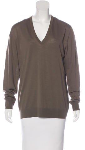 pradaPrada Wool V-Neck Sweater w/ Tags