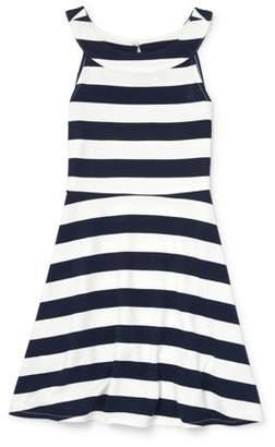 4649610bf Children's Place The Striped Ponte Dress (Big Girls)