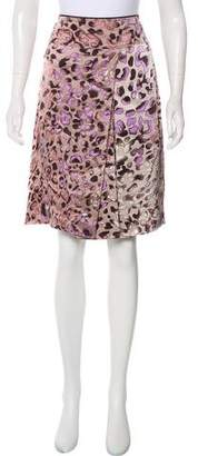 Salvatore Ferragamo Printed Silk Skirt w/ Tags