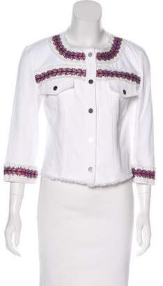 Rebecca Minkoff Embroidered Cropped Jacket