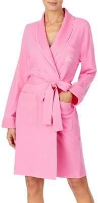 Lauren Ralph Lauren Quilted Trim Jersey Knit Robe