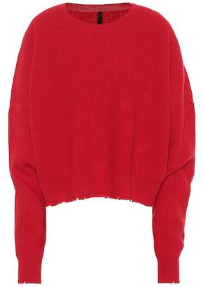 Unravel Cropped wool and cashmere sweater