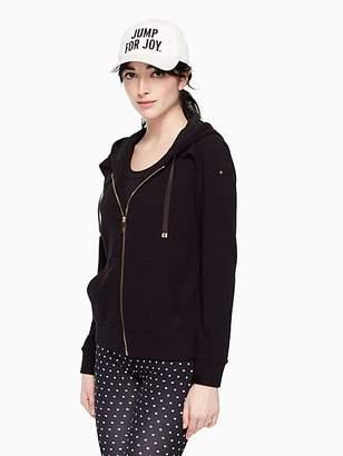 Kate Spade Ruffle zip up hoodie