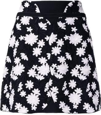 Giambattista Valli floral embroidered mini skirt