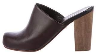 Rachel Comey Leather Round-Toe Clogs