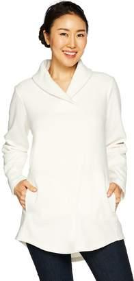 Denim & Co. Regular Shawl Collar Long Sleeve Fleece Tunic
