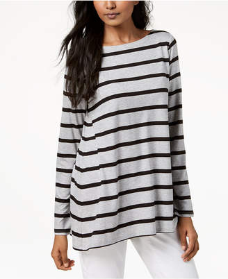 Eileen Fisher Tencel Striped Boat-Neck Tunic, Regular & Petites