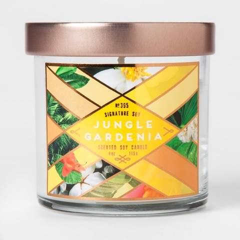 Signature Soy Small Jar Candle Jungle Gardenia 4oz