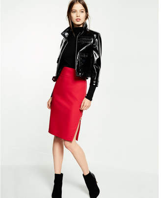 Express side zipper midi pencil skirt $69.90 thestylecure.com