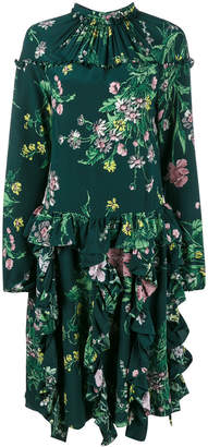Rochas floral print gathered dress