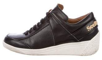 See by Chloe Leather Wedge Sneakers
