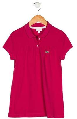 Lacoste Girls' Short Sleeve Polo Shirt w/ Tags