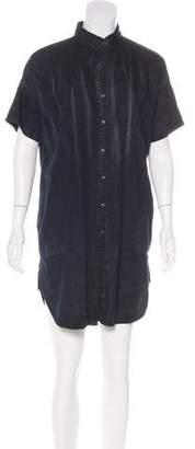 Current/Elliott Chambray Distressed Shirtdress