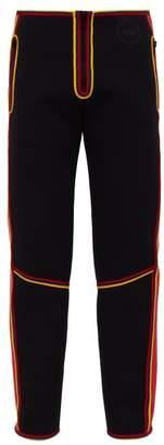 Calvin Klein Stripe Trim Neoprene Scuba Trousers - Mens - Black Red
