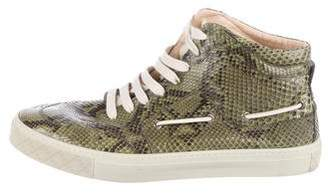 Gucci Snakeskin High-Top Sneakers